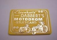 Motodrom Hugo Dabbert - Ehrenkarte in gelb