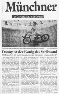 Danny Varanne in der Münchner Zeitung - Danny ist der König der Steilwand